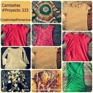 Camisetas Proyecto333 Minimalismo
