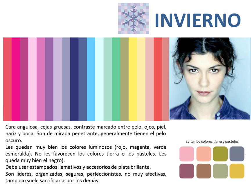 Teoría colores invierno